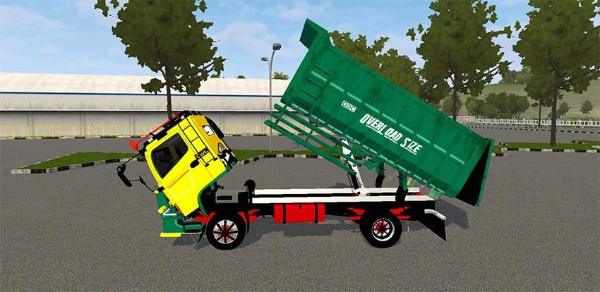 Tampak Samping Hino Dump Scania