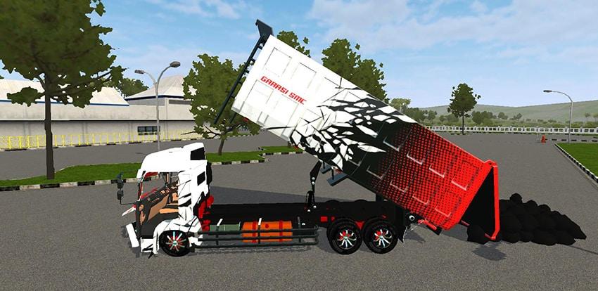 Tampilan Animasi Hino Dump C9 SMC
