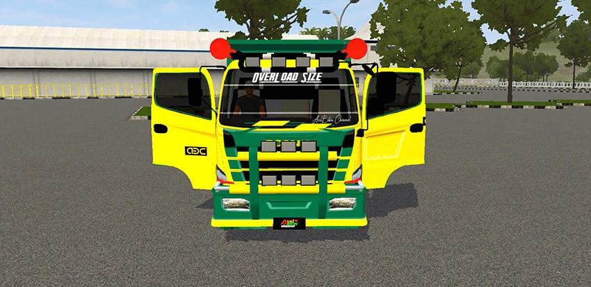 Tampilan depan Hino Dump Scania