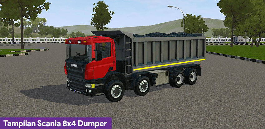 Tampilan Scania 8x4 Dumper