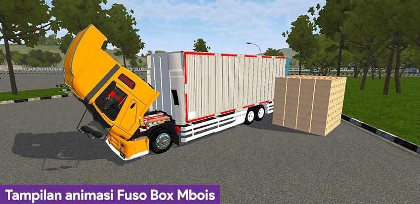 Tampilan animasi Fuso Box Mbois