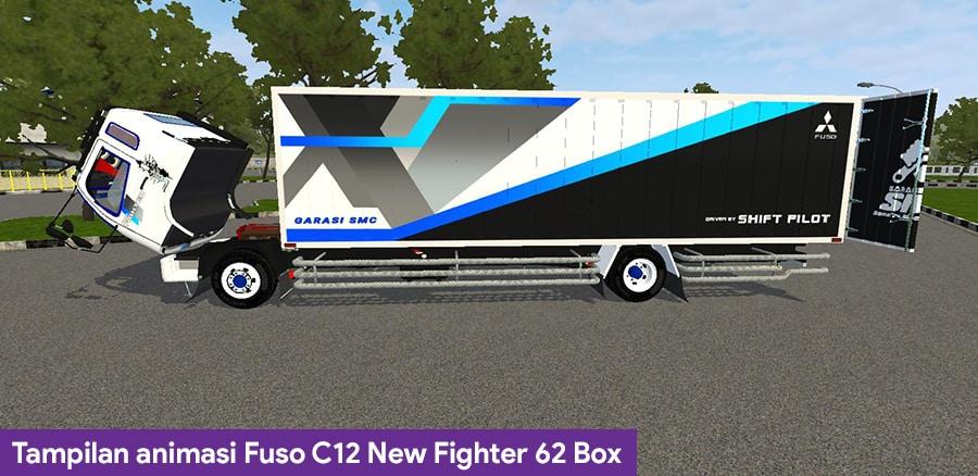 Tampilan animasi Fuso C12 New Fighter 62 Box
