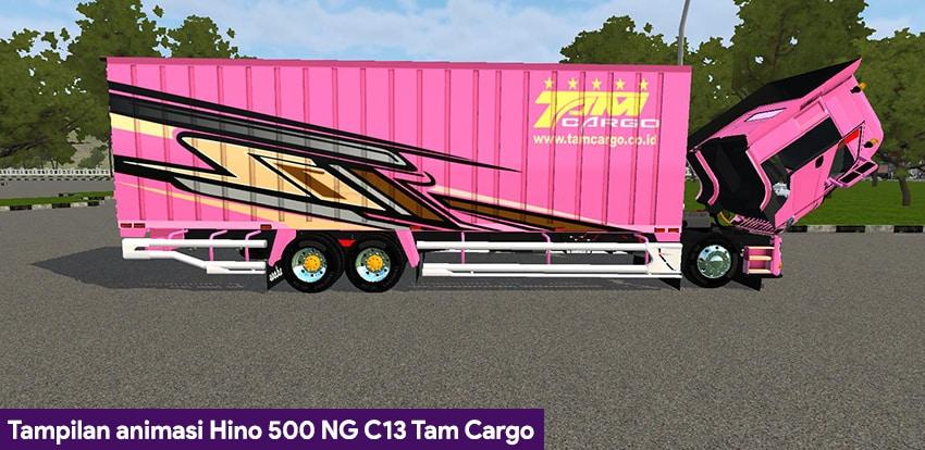 Tampilan animasi Hino 500 NG C13 Tam Cargo