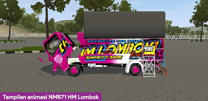Tampilan animasi NMR71 HM Lombok