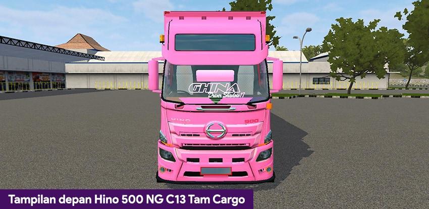 Tampilan depan Hino 500 NG C13 Tam Cargo