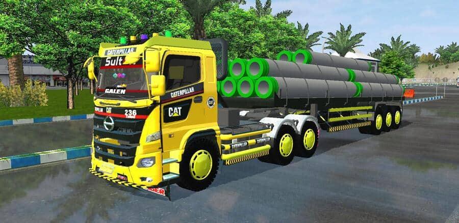 MOD Truck Hino 500 Trailer Galen Arman Jaya